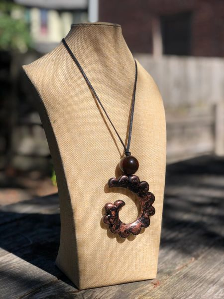Alisha D Twisted Copper Necklace