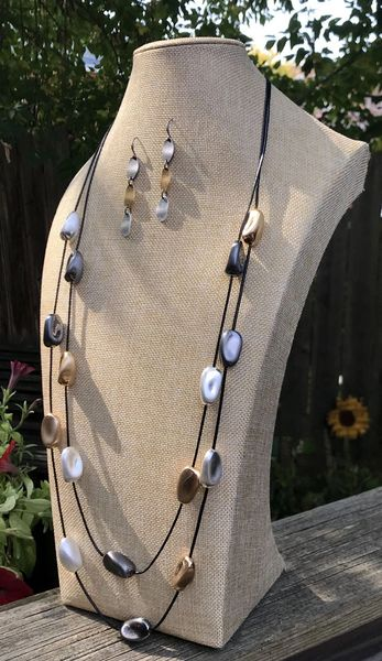 Mixed Metal Nuggets Necklace
