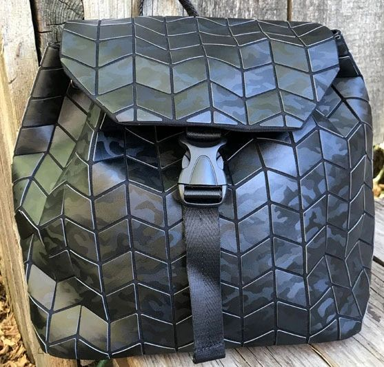 Patrizia Luca Mini Geo Backpack in Black Camo