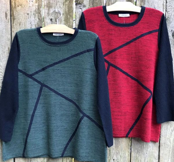 Margaret Winters Geo Pullover Sweater