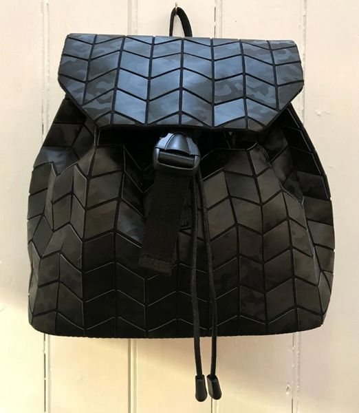 Patrizia Luca Mini Geo Backpack in Black Camo