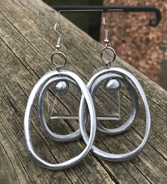 Artisan Double Oval Earrings