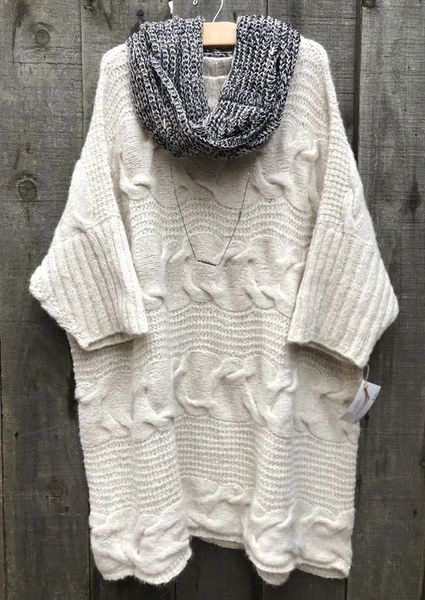 Llama Love Poncho Sweater