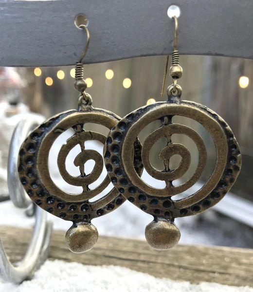Volare Bronze Swirl Earring
