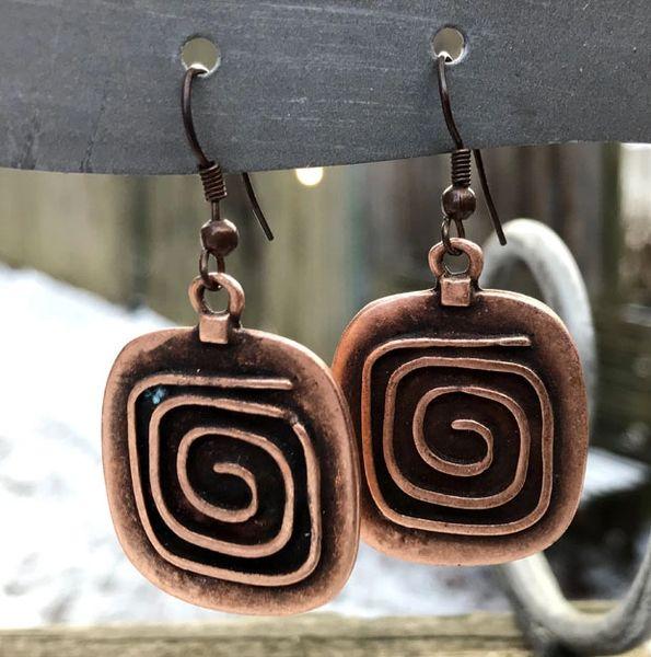 Volare Copper Swirl Earring