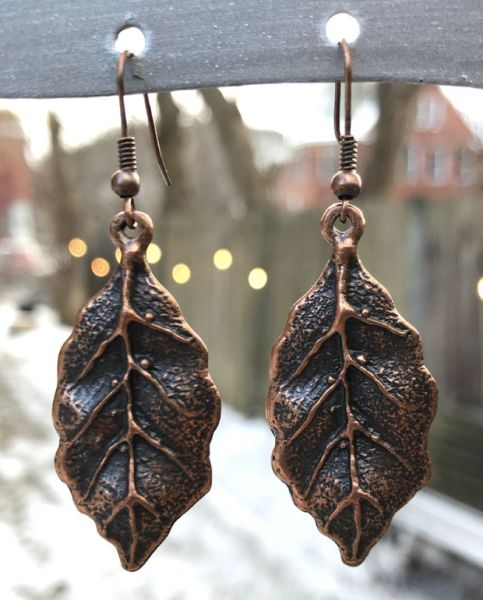 Volare Copper Leaf Earring