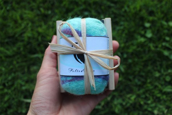 Handcrafted Felted Peppermint Soap Gift Sets