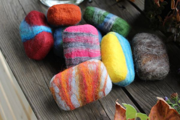 Handcrafted Felted Soap - Creamy Clay, Lavender, Cucumber & Calendula