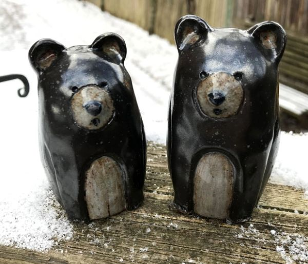 Mountain Gal Black Bears Salt-n-Pepper Shakers