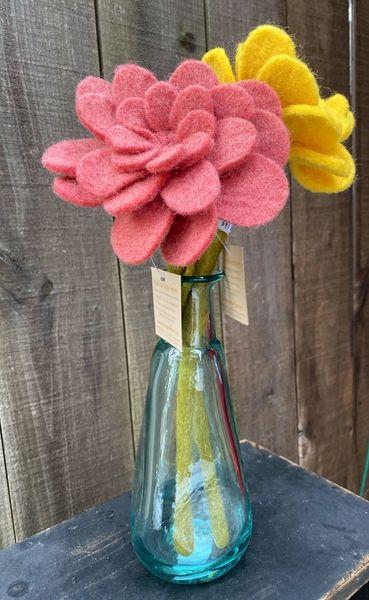 Felt Zinnia Flower