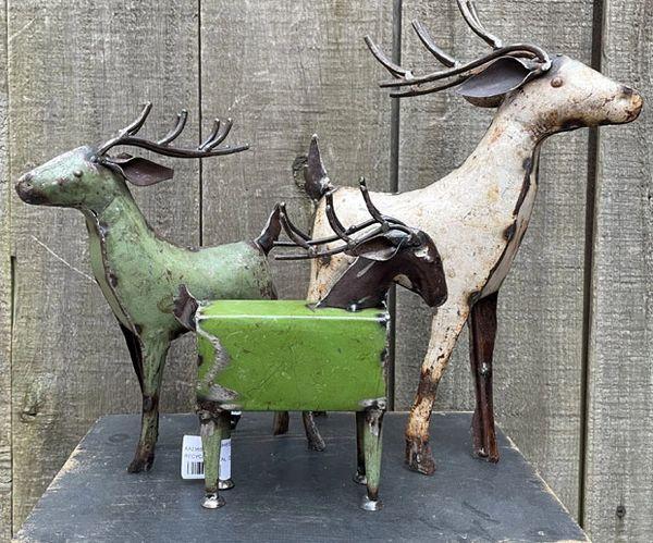 Recycled Metal Deer