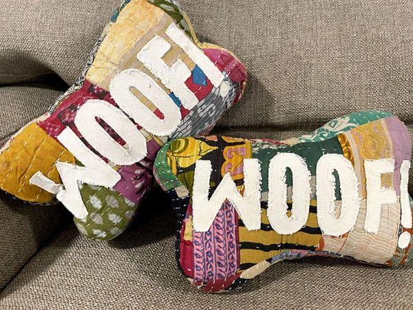 Woof! Bone Pillow