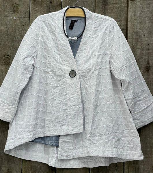 Focus Silver Basketweave Cotton Swing Jacket