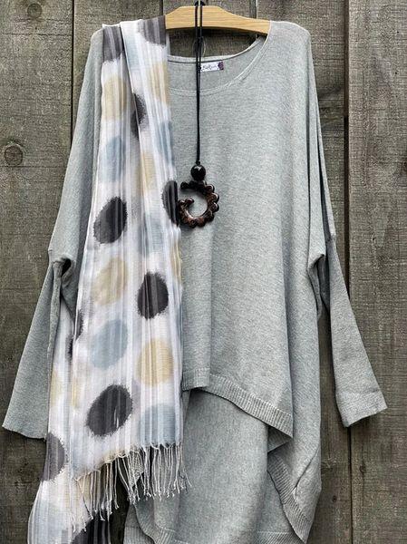 B&K Moda Hi-Lo Sweater - Plus Size