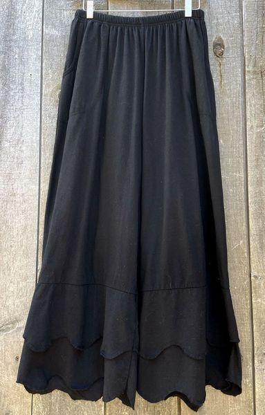 Scallop Pant - Black, Size 1
