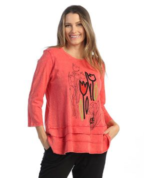 Jess & Jane Tulips Tunic