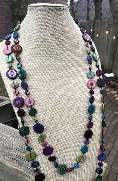 Caracol Button Necklaces - more colors