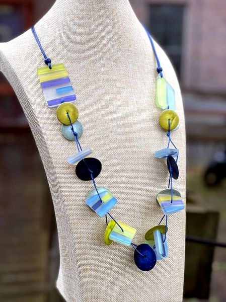 Sylca Stripe Larkin Necklace