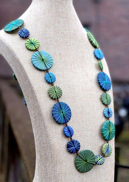 Sylca Blue & Green Azalea Necklace