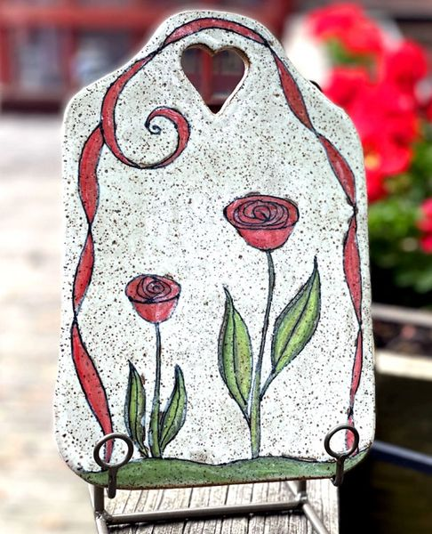 Mountain Gal Rose and Ribbon Cheese Stone/Tapas Platter