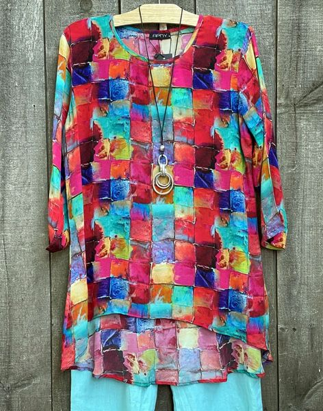 APNY Color Abstract Tunic