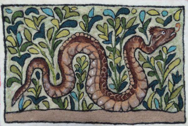 Pair of Pompeiian Snakes