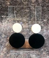 Origins B&W Disc Earring