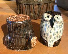 Mountain Gal Woodland Owl Salt-n-Pepper Shakers