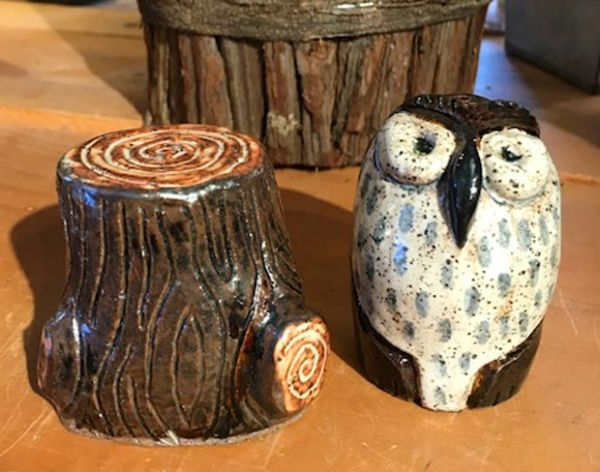 Mountain Gal Woodland Owl Salt-n-Pepper Shakers