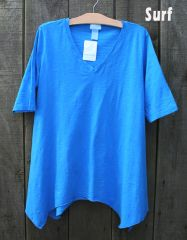 Sun Moda V-Neck Tunic Tee -- more colors