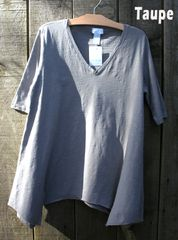 Sun Moda V-Neck Tunic Tee -- LAST ONE!