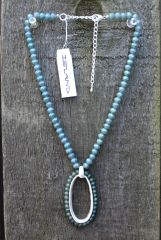 Green Bead Necklace by Island Imports