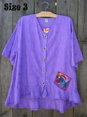 Spring Lilac Picnic Blouses -- LAST ONE!