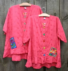 Spring Coral Picnic Blouses