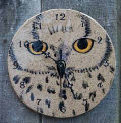 Mountain Gal Woodland Owl Clock