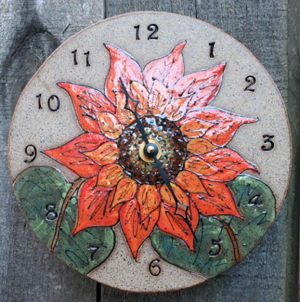 Mountain Gal Sunflower Clock