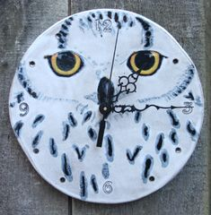 Mountain Gal Snowy Owl Clock