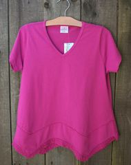 CMC V-Neck Top w/ Lace Trim -- LAST ONE!