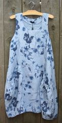 Luca Vanucci Blue Flower Tank Dress -- LAST ONE!