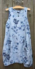 Luca Vanucci Blue Flower Tank Dress