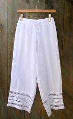 Luca Vanucci White Linen Pant