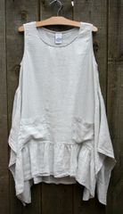 Match Point Silver Ruffle Tank