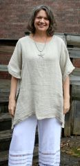 Match Point Mesh Linen Poncho