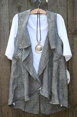 Paper Lace Ruffle Vest