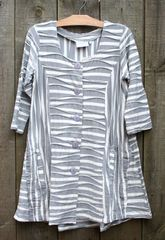 Paper Lace Apt Designs Stripe Button Tunic -- LAST ONE!