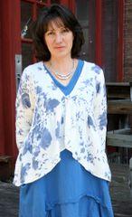 Paper Lace Blue Floral Jacket