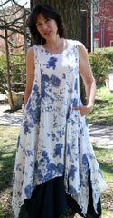 Paper Lace Blue Floral Dress