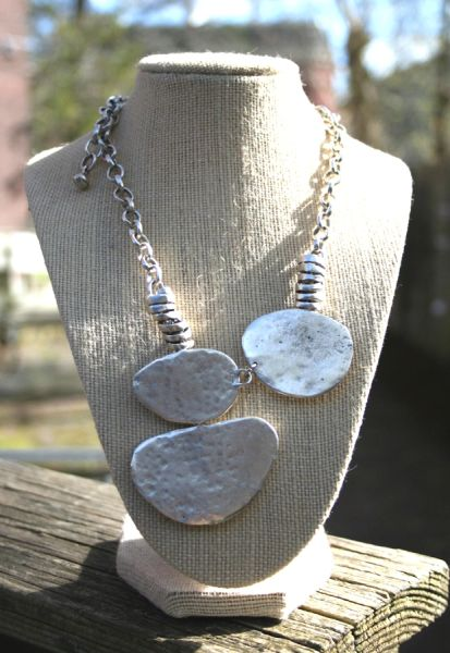Volare Pewter Necklace