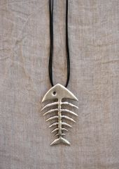 Volare Fish Skeleton Pendant