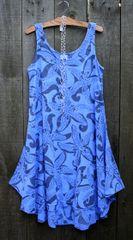 Sun Moda Gauze Hi-Lo Tank Dress
